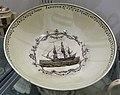 Punch bowl for John Janston, Josiah Wedgwood, c. 1780, transferware (creamware), HD 1130.1, view 2 - Flynt Center of Early New England Life - Deerfield, Massachusetts - DSC04589.jpg