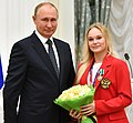 Putin and Angelina Melnikova 2021cr.jpg