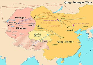 Timeline of Xinjiang under Qing rule