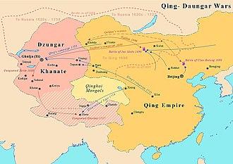 Dzungar Khanate - Galdan's campaigns against Qing dynasty