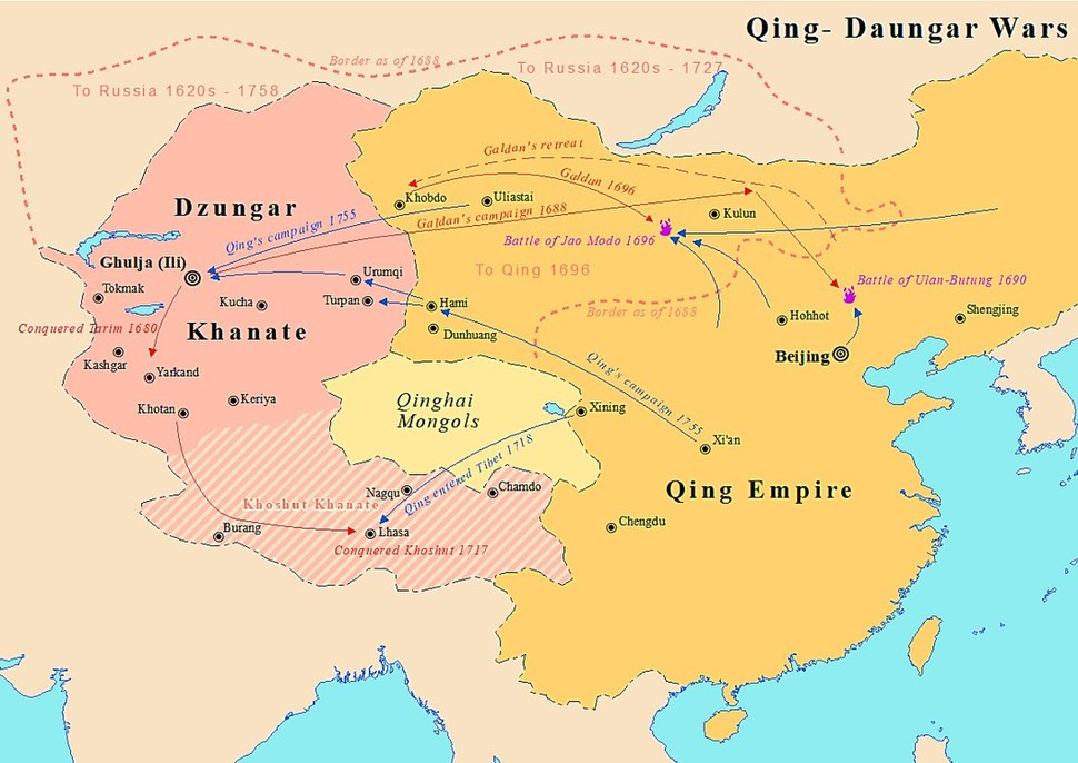Qing Dzungar wars