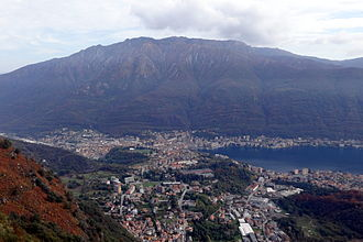 Omegna - Omegna and Monte Mottarone.