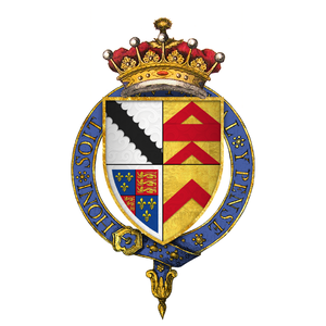 Robert Radclyffe, 5th Earl of Sussex - Quartered arms of Sir Robert Radclyffe, 5th Earl of Sussex, KG