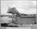 Queensland State Archives 4061 Tower traveller erecting sixth panel of south cantilever arm erection stage 4 Brisbane 14 June 1939.png
