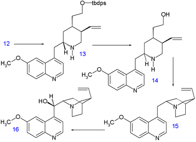 Stork quinine synthesis II