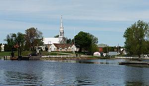 Quyon, Quebec - Quyon, Quebec, as seen from Ottawa river