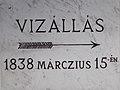 Rókus-kápolna, 1838-as árvíztábla, 2017 Palotanegyed.jpg