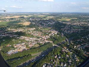Wezembeek-Oppem - Image: R0 north of Quattre Bras Brussels Ring