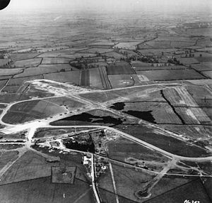 Hinton-in-the-Hedges Airfield - Aerial view from the west circa 1941-1942