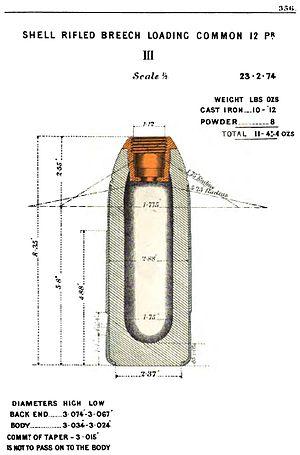 RBL 12 pounder 8 cwt Armstrong gun