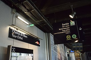 Champ de Mars – Tour Eiffel station railway station
