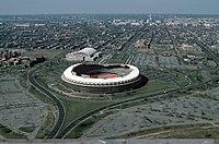 RFK Stadium aerial photo, looking towards Capitol, 1988.jpg