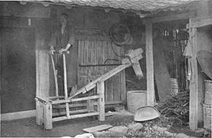 Dhenki - The dhenki is similar to this Japanese tool used for a similar purpose