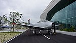 ROKAF T-28A(17-816) right front view at Jeju Aerospace Museum June 6, 2014 01.jpg