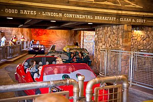 Radiator Springs Racers - Cars waiting before the race