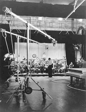 BBC Television Orchestra - Hyam Greenbaum and the BBC Television Orchestra in a test broadcast to Radiolympia, August 1936