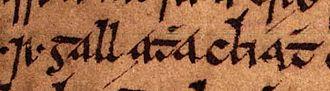 Ragnall mac Torcaill - Image: Ragnall mac Torcaill (Oxford Bodleian Library MS Rawlinson B 488, folio 23r) 2