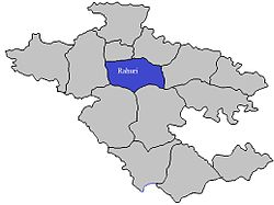 Location of Rahuri  in Ahmednagar district in Maharashtra