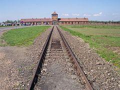 Rail leading to Auschwitz II (Birkenau)