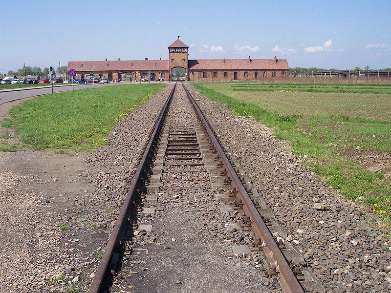 Fájl:Rail leading to Auschwitz II (Birkenau).jpg