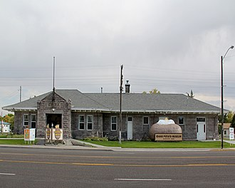 National Register of Historic Places listings in Bingham County, Idaho - Image: Railroad.depot.potat omuseum.front
