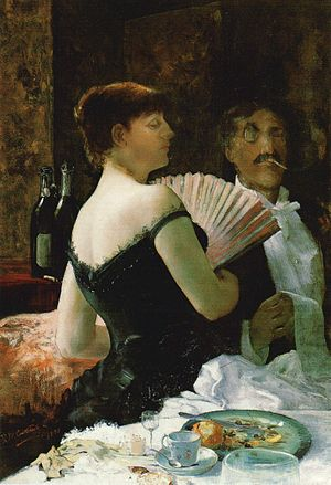 Ralph Wormeley Curtis - Whistler at a Party