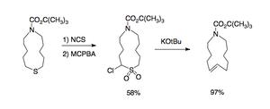 Ramberg–Bäcklund reaction - Scheme 4. Small-ring application of the Ramberg–Bäcklund reaction