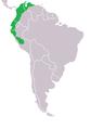 Range map of Tangara arthus.png