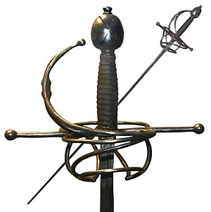 Rapier - Rapier, first half of the 17th century.
