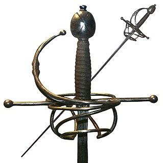 Rapier Slender, sharply pointed sword