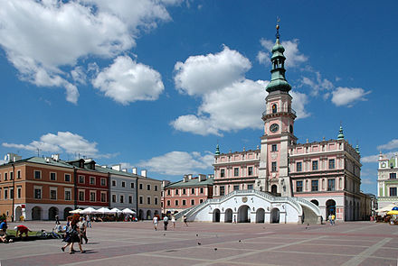 The Old City of Zamosc is a UNESCO World Heritage Site. Ratusz Zamosc.jpg