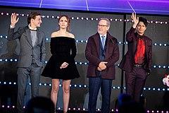 Ready Player One Japan Premiere Red Carpet Tye Sheridan, Olivia Cooke, Steven Spielberg & Win Morisaki (40894412644).jpg
