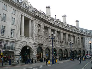 Le Méridien Piccadilly Hotel - Le Méridien Piccadilly rear facade, facing Regent Street