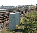 Relay cabinets beside the railway east of Penzance - geograph.org.uk - 1547291.jpg