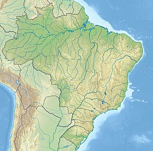 Map showing the location of the river mouth in Brazil
