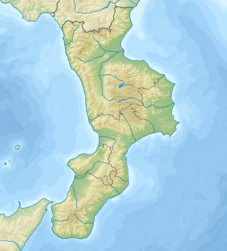 1905 Calabria earthquake is located in Calabria
