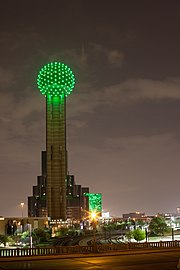 Reunion tower - st. patrick's day (6844527456).jpg