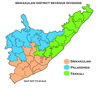Revenue divisions map of Srikakulam district.png