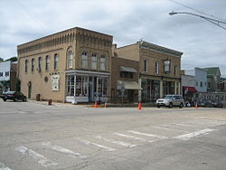 Buildings in downtown Richmond, Illinois