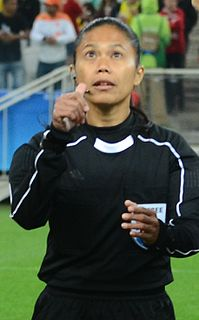 Rita Gani Malaysian association football referee and association football player