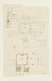 Ritningar och utkast till byggnad. Av Nils Bielkes hand, cirka 1700 - Skoklosters slott - 98147.tif