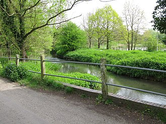 River Stour, Kent - The Great Stour from Bucksford Lane near Ashford
