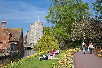 Canterbury - Image: River Stour in Canterbury, England May 08