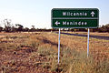 Road sign next to the Cobb Highway near the Ivanhoe-Menindee Road intersection.jpg