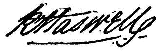 Robert Haswell - signature of Robert Haswell
