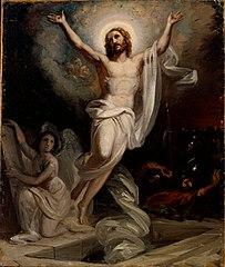 Kristuksen ylösnousemus, nykyisen Keski-Porin kirkon alttaritaulun luonnos