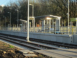 Robinswood Road Metrolink station under construction.jpg