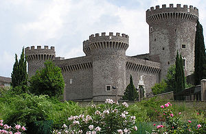 Tivoli, Lazio - The castle of Rocca Pia, built in 1461 by Pope Pius II.
