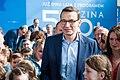 Rodzina 500+ dwa lata premier Mateusz Morawiecki w Radymnie z dziećmi.jpg