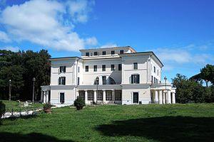 Villa Torlonia (Rome) - Villa Torlonia, the rear facade
